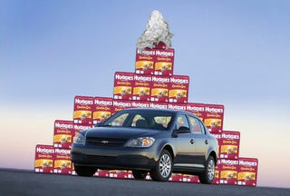 Illustration for article titled Chevy Offers Cobalt Baby's Parents A Year's Supply Of Diapers