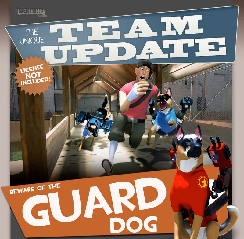 Illustration for article titled You Know What Team Fortress 2 Needs? Guard Dogs
