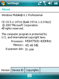 Illustration for article titled Windows Mobile 6.1 Homebrew ROM For Sprint Mogul