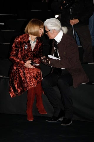 Illustration for article titled Anna Wintour Can't Believe Karl Lagerfeld Is _____