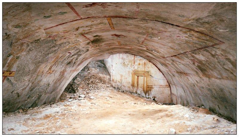 Illustration for article titled Descubren una cámara subterránea oculta en el palacio del emperador romano Nerón