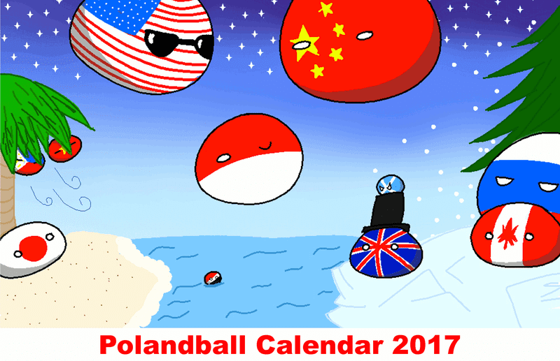 Illustration for article titled 2017 Polandball Calendar