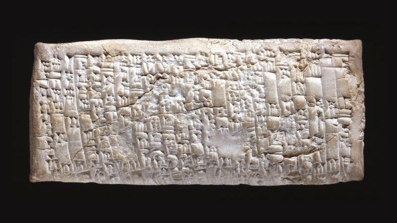 La tablilla de 1750 a.C. dirigida a Ea-nasir fue hallada en las ruinas de Ur