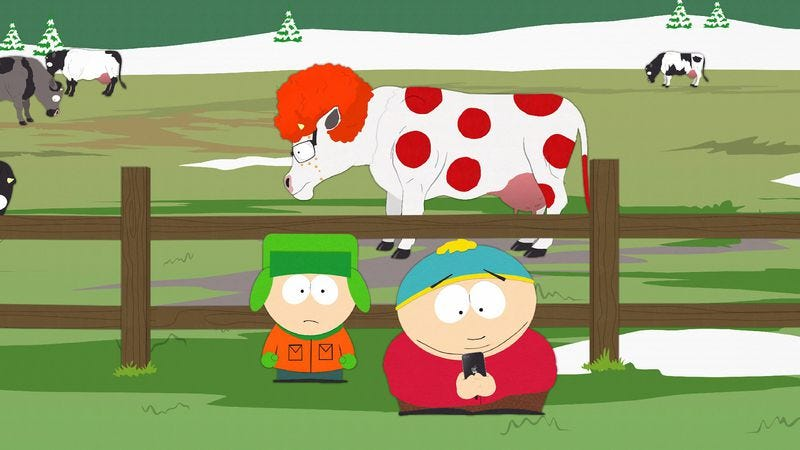 """Illustration for article titled South Park: """"Ginger Cow"""""""