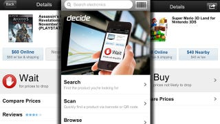 Illustration for article titled Decide for iPhone Shows Potential Price Drops on Electronics