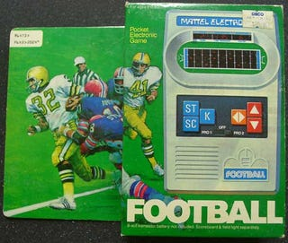 Illustration for article titled Mattel Football: 1979's King of Timewasters