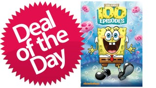 Illustration for article titled The First 100 Episodes of SpongeBob SquarePants on DVD Is Your Hyperactive Deal of the Day