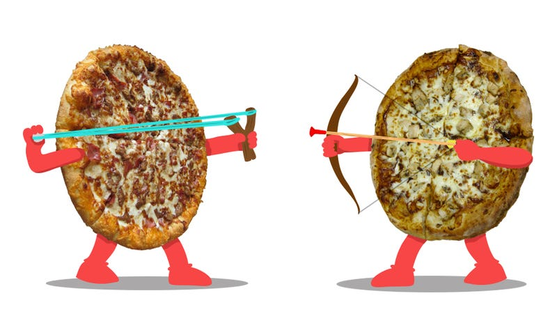 Illustration for article titled BBQ Chicken Pizza Smackdown: Pizza Hut Vs. Domino's