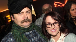 Illustration for article titled A silent but deadly fart: Nick Offerman and Megan Mullally's marriage