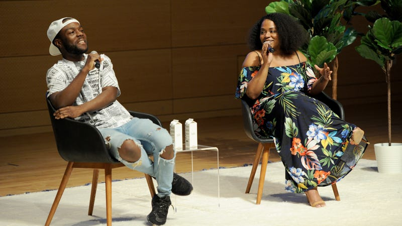 Kid Fury and Crissle West speak onstage during the Teen Vogue Summit 2018: #TurnUp - Day 1 on June 1, 2018 in New York City.