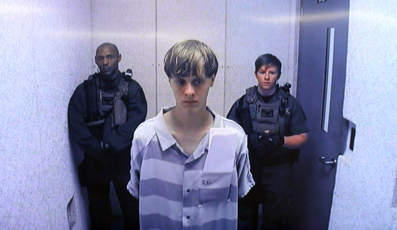 Dylann Roof at Centralized Bond Hearing Court on June 19, 2015, in North Charleston, S.C. Grace Beahm-Pool/Getty Images