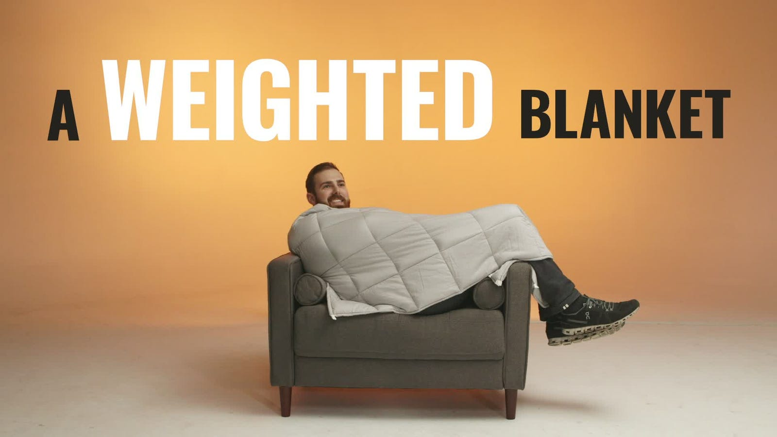 Pick Up This 20-Pound Weighted Blanket, Because Dads Need to Relax, Too