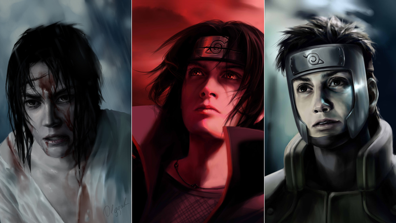 Illustration for article titled Naruto Characters, Gone Really Dark