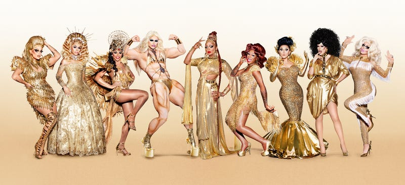 Morgan McMichaels (left), Aja, Shangela, Milk, Kennedy Davenport, Chi Chi DeVayne, BenDeLaCreme, Thorgy Thor, Trixie Mattel (Photo: VH1)