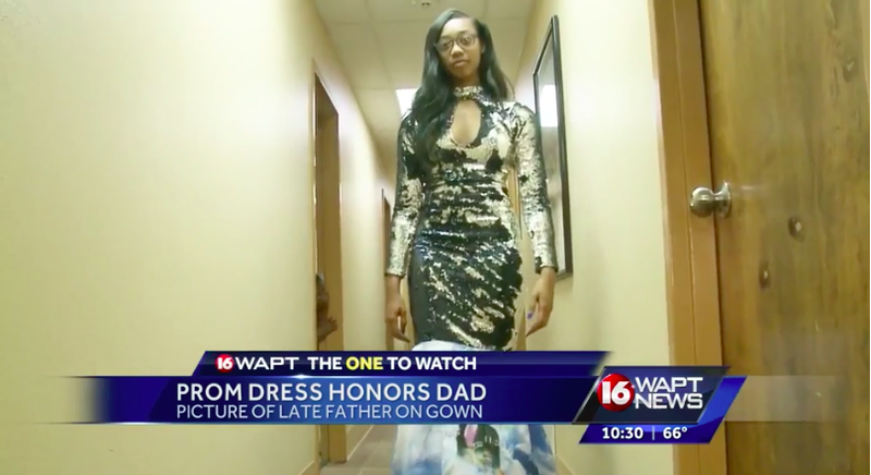 Mississippi Teen Honors Her Late Father With Prom Dress