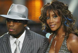 50 Cent and Vivica A. Fox at the MTV Video Music Awards at Radio City Music Hall in New York City on Aug. 28, 2003Mark Mainz/Getty Images