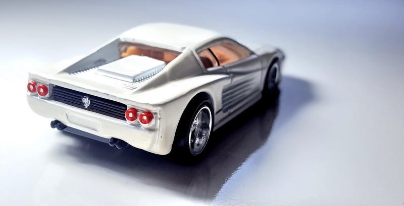 Illustration for article titled A white Ferrari