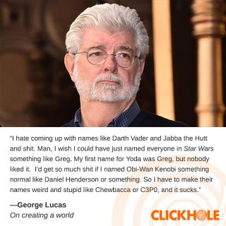 Illustration for article titled George Lucas Said What?!