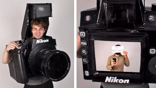 Illustration for article titled Working DSLR Costume Will Easily Win Every Contest This Weekend