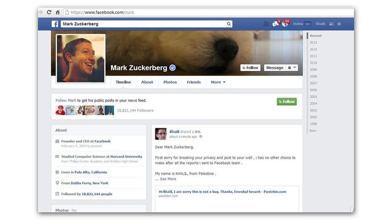 Illustration for article titled Facebook Denies Zuck Wall Hacker $500 Reward, Internet Gives Him $10K