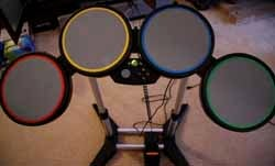 Two Videos of Rock Band Drums Working on PC, Xbox 360 and