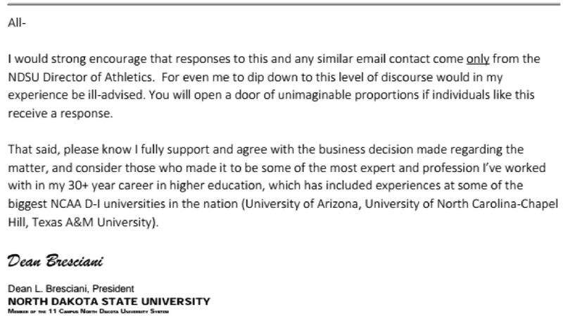 Illustration for article titled Internal Email, Texts Reveal NDSU President Endorsed Banning Media Outlets