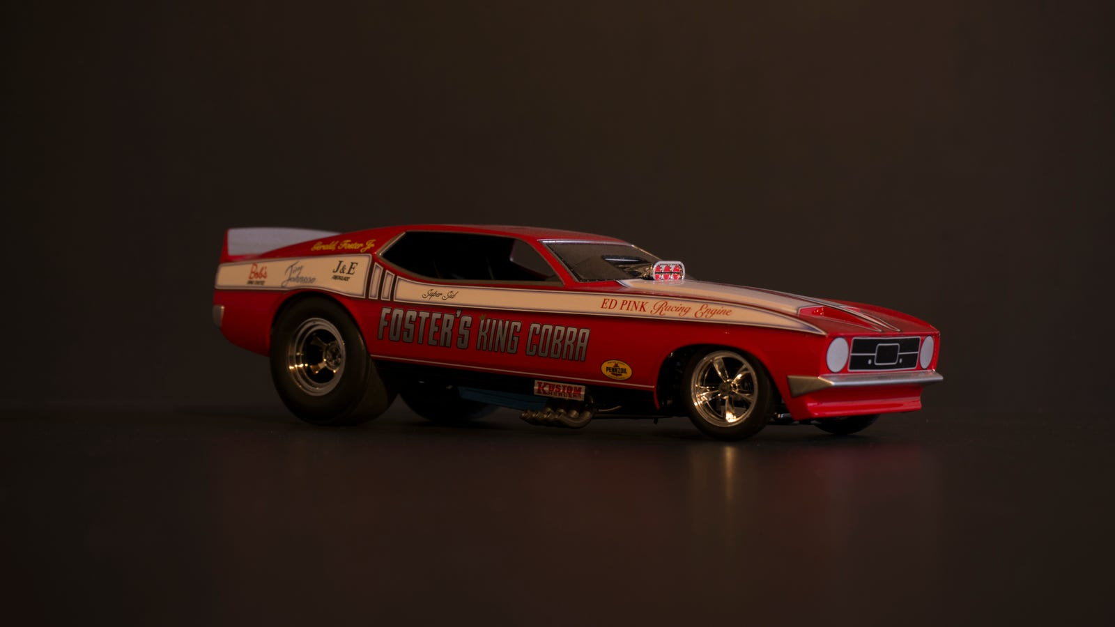 Foster's King Cobra: 1972 Mustang Mach 1 Funny Car