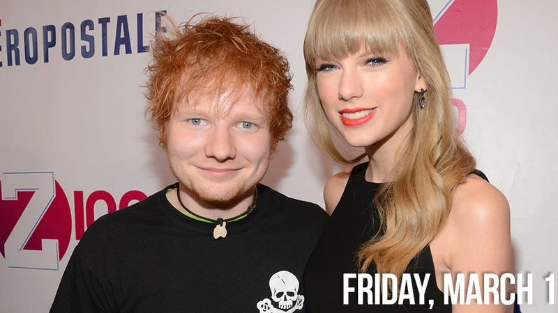 Illustration for article titled Taylor Swift Spends the Night with Brit-Pop Gingersnap Ed Sheeran