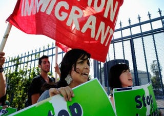 Immigration-rights protest (Getty Images)