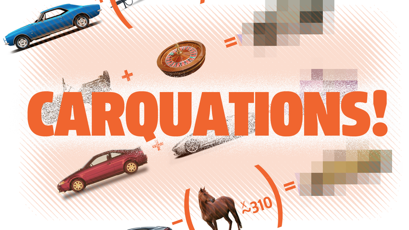 Illustration for article titled Try Carquations: The Most Fun You Can Have With Wacky Automotive Pseudo-Math