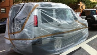 Plastic Wrap Car >> Packing Tape And Plastic Wrap Won T Save New Yorkers Cars From