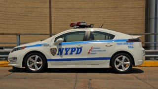 Illustration for article titled New York's finest turn a Chevy Volt into a cop car