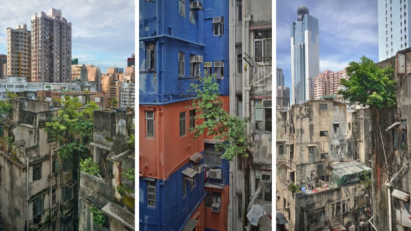Illustration for article titled These post-apocalypse images of Hong Kong are actually real photos