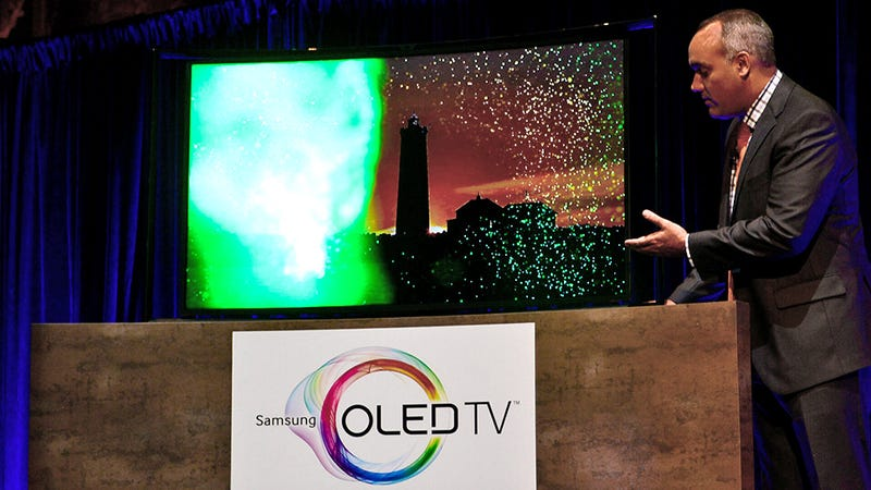Illustration for article titled You Can Buy Samsung's 55-inch Curved OLED TV Today for $9,000