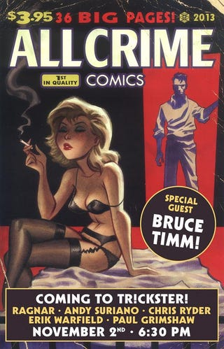 Illustration for article titled Tr!ckster's All Crime Comics Signing (With Bruce Timm) Is A Thing