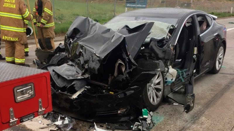 A Tesla Model S that crashed in South Jordan, Utah, while in Autopilot mode accelerated in the seconds before it smashed into the stopped firetruck, according to a police report obtained by The Associated Press. Two people were injured.