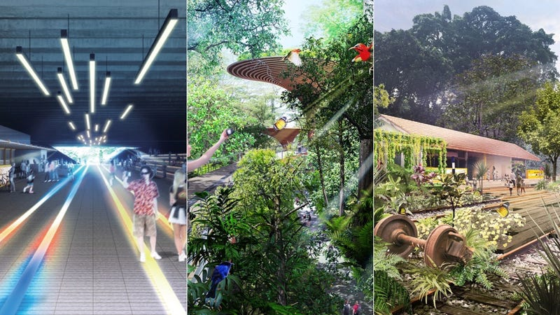 Illustration for article titled Singapore Is Turning a Cross-Country Railroad Into the World's Longest High Line