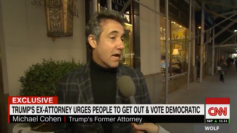 Illustration for article titled Michael Cohen's Turtleneck Wants You To Vote Democrat