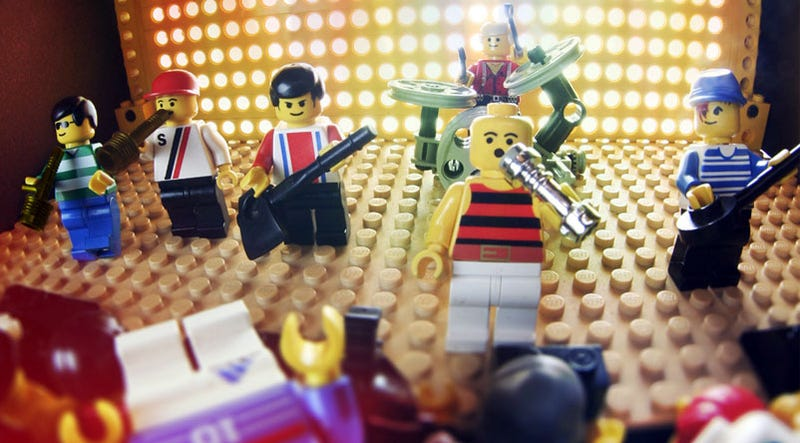 Illustration for article titled Lego Rock Band to Brick and Roll This Year