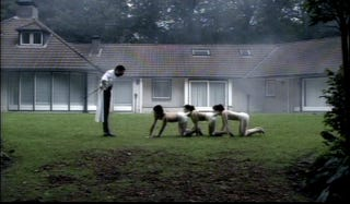 """Illustration for article titled British ratings board rejects Human Centipede 2, calls it a """"real risk"""" to viewers due to """"sexual perversity"""""""