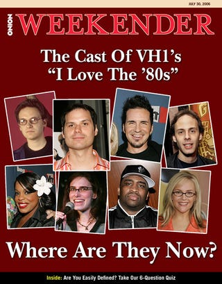 "Illustration for article titled The Cast of VH1's ""I Love The '80s"""