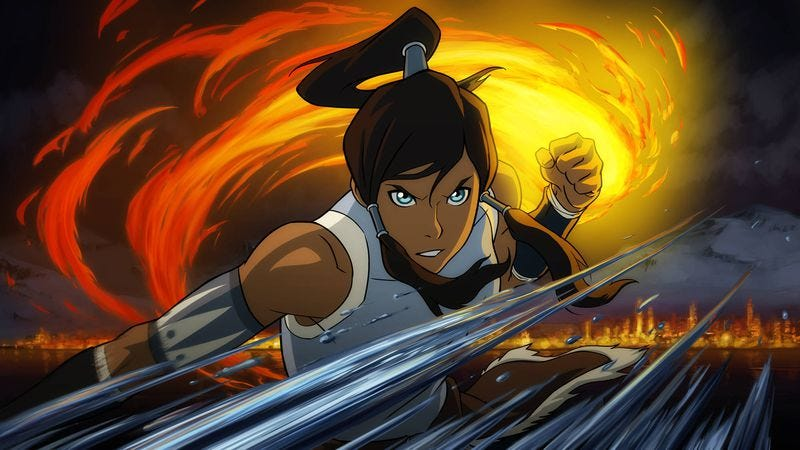 "Illustration for article titled The Legend Of Korra: ""Old Wounds""/""Original Airbenders"""