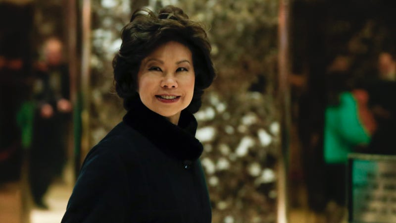 Elaine Chao arrives at Trump Tower last week. Photo credit: AP