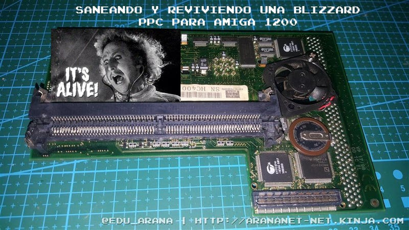 Illustration for article titled Saneando y reviviendo una Blizzard ppc para Amiga 1200