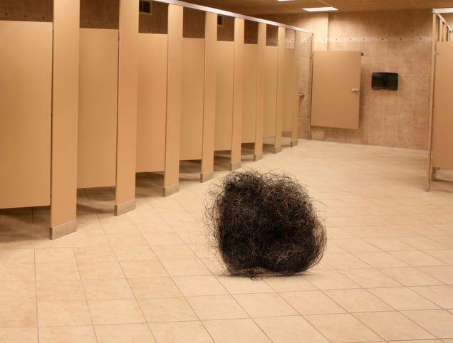 Tumbleweed Of Pubes Rolls Through Desolate Dorm Bathroom