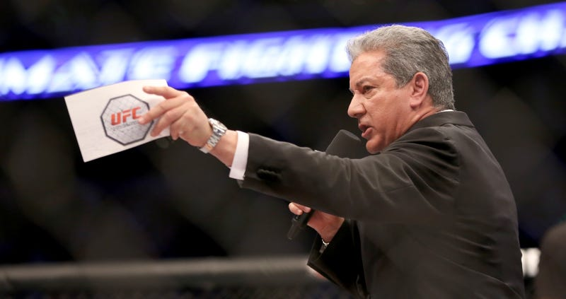 Illustration for article titled UFC Announcer Bruce Buffer Is Not Cut Out For Rock And Roll