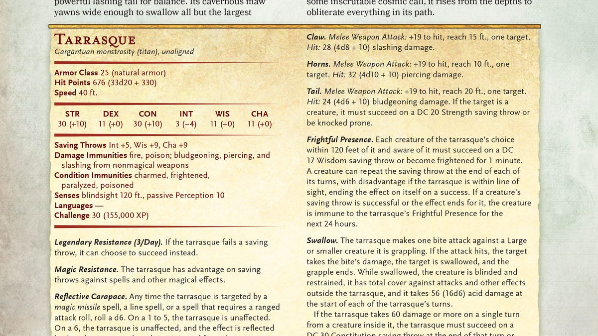 The D&D 5th Edition Monster Manual Is a Cornucopia of