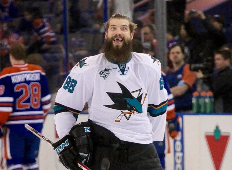 Illustration for article titled Brent Burns seems to be a nice, happy fellow.