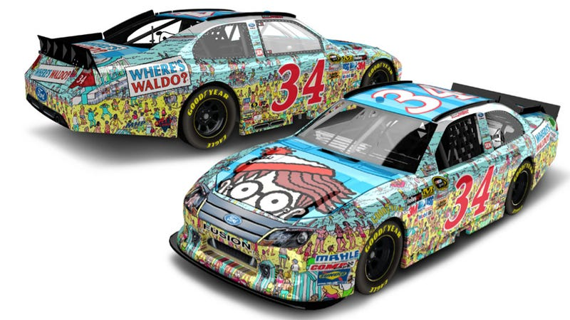 Illustration for article titled This Is The Where's Waldo Paint Job That Will Debut In NASCAR This Fall