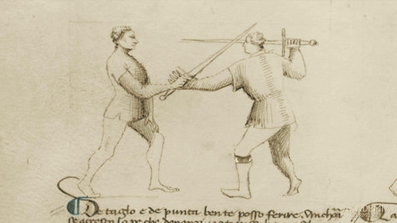 Así recrean dos maestros los letales movimientos registrados en manuales de esgrima medieval